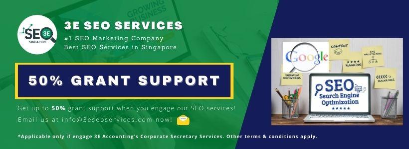 3E SEO Services 50% Grant Support